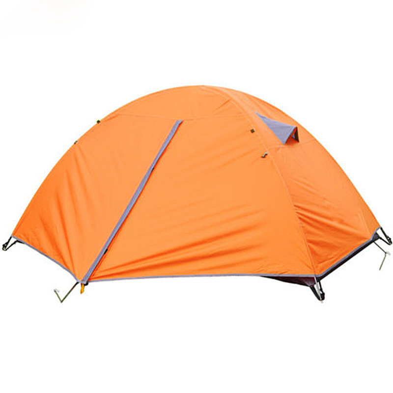 2 Person Tent Double Layer Outdoor Camping Hiking Travel Play Tent Aluminum Pole Wind rope pegs Windproof Waterproof Hot brand 1 2 person outdoor camping tent ultralight hiking fishing travel double layer couples tent aluminum rod lovers tent
