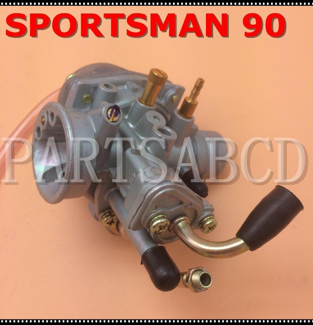 US $12 99  Carburetor For POLARIS SPORTSMAN 90 2004 ATV Manual Cable Choke  90cc Carb 2 Stroke-in ATV Parts & Accessories from Automobiles &