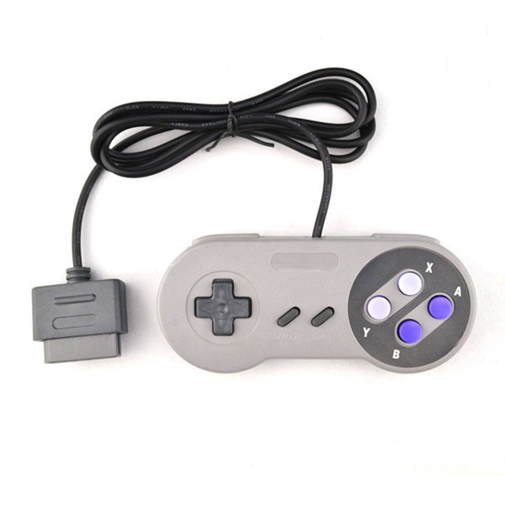 Wired classic retro Super Gaming Joypad Joystick for Nintendo SNES Controller for PC Controllers Gray key handle