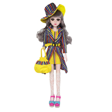 New 60cm BJD Dolls with Clothes 20 Movable Jointed Naked Nude Body Fashion Accessories for Toy For Girls Gift