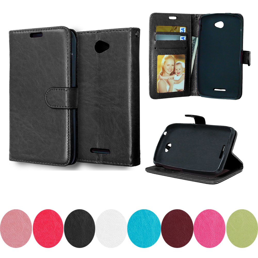 For Sony E 4 Dual E2114 E2124 E2104 Case For Sony Xperia E4 E2115 E2105 para Solid color Leather Photo Frame Flip Phone Cover image