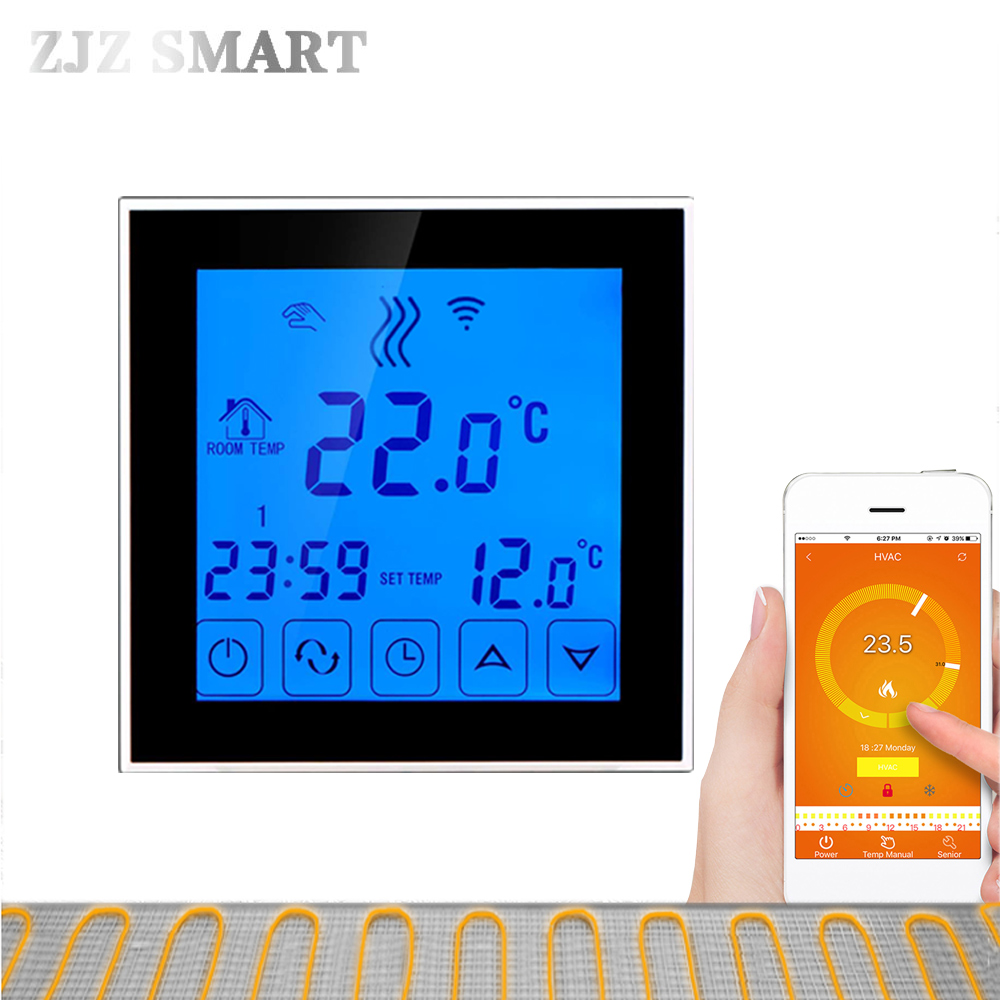 Wifi Programmable APP Intelligent Water Heating Thermostat Programmable Temperature Switch Controller Controller For Hot Floor