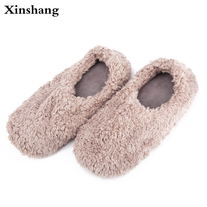 2017 Winter Home Slippers Women House Shoes Female For Indoor Bedroom House Warm Cotton Shoes Adult Cute Flats
