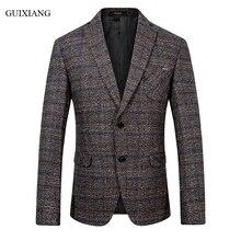 Business casual slim plaid suit jacket