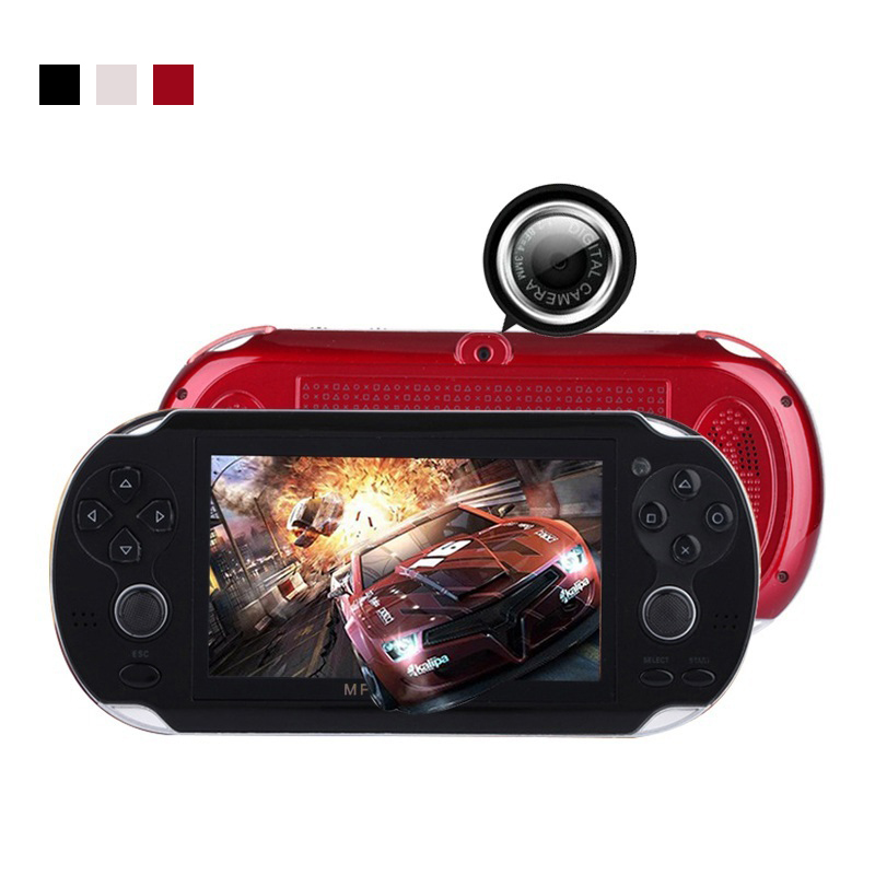 2017 New 4.3 Inch Ultra-Thin 64 Bit Handheld Game Players 8GB Memory MP5 Video Game Console 1000 Kinds Multimedia classic Games 4 styles hdmi av pal ntsc mini console video tv handheld game player video game console to tv with 620 500 games