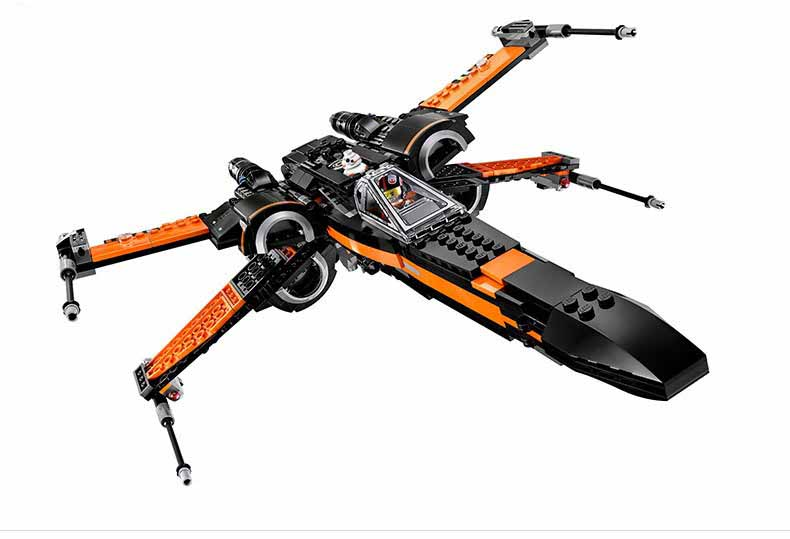 mylb New 748pcs Super Heroes First Order Poe X-Wing Star Fighter Building Blocks BB-8  compatible with bricks hot sale building blocks assembled star first wars order poe s x toys wing fighter compatible lepins educational toys diy gift
