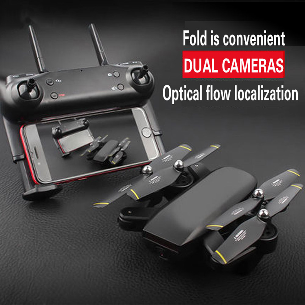 NEW DM107S D107 RC Helicopter Double Camera MINI Fold Selfie RC Drone With Wifi FPV 2MP HD Camera Quadcopter VS SG700 Dron