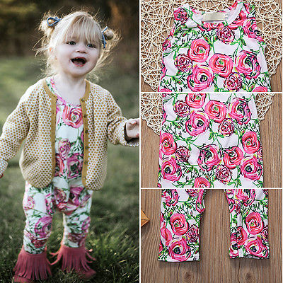 2017 Baby Girls Romper 0-3years Toddle Kids Clothes Floral Rompers Overall Summer Bebes Newborn Baby Clothing Set