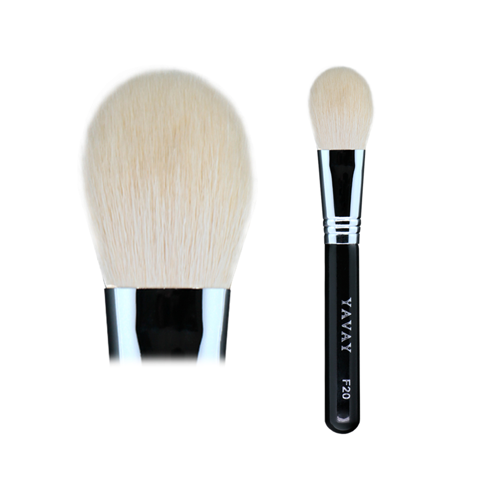 YAVAY F20 Bronzer Brush Replacement for Tom 5 Brush High Quality Fine Goat Hair Copper Connection Black Wood Handle Makeup Brush f20