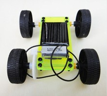 Assembly Mini Solar Car Hand-made Toy Powered DIY Car Kit Children Gift Educational Puzzle IQ Gadget Hobby Robot 8x6.8x3.2 cm