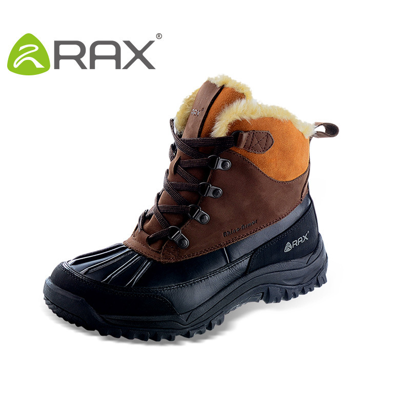 RAX Waterproof Snowproof Winter boots men senderismo waterproof shoes hiking boots mountain outdoor sprorts shoes Free shipping