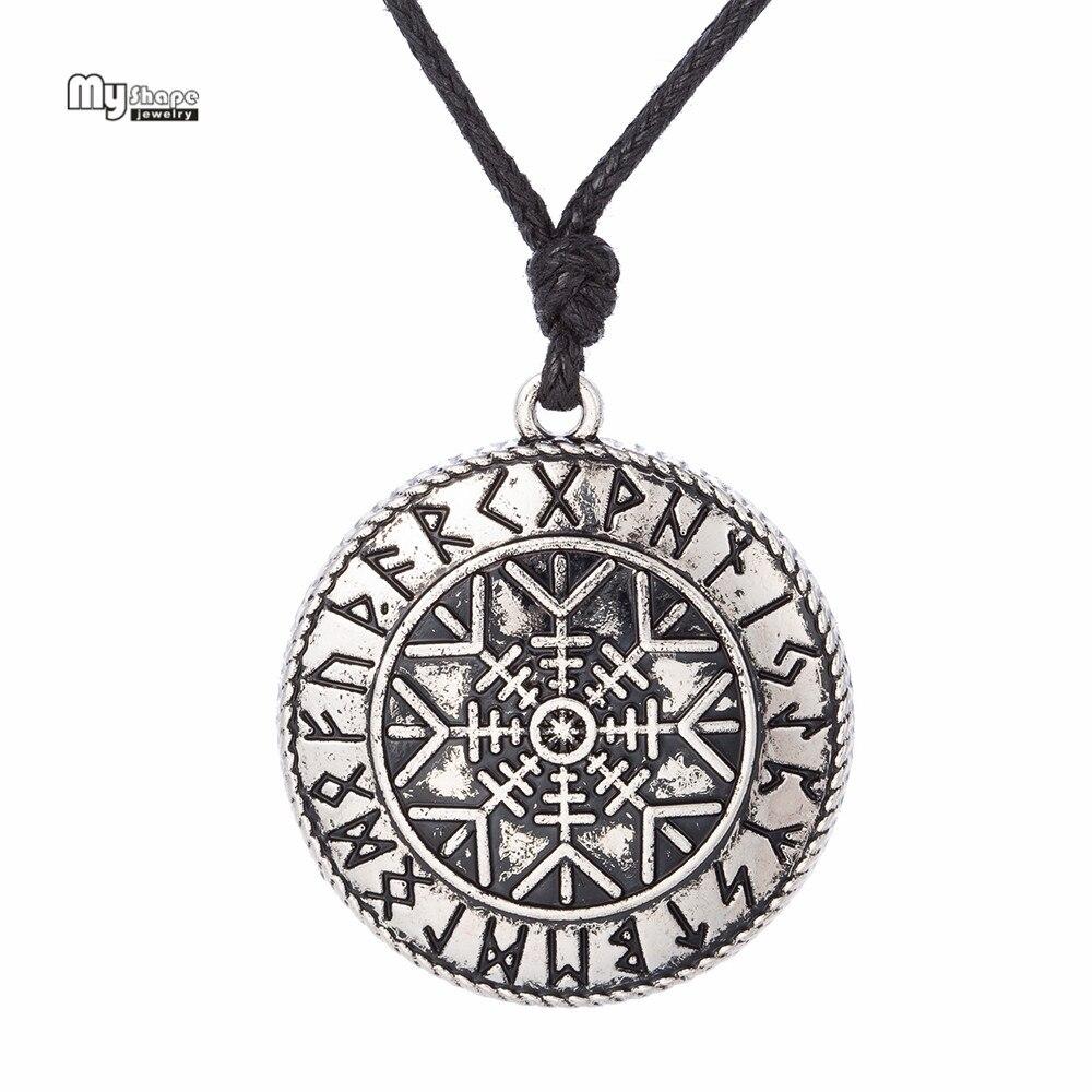 Aushöhlen Viking Aegishjalmur Rune Anhänger 1 Stück Drop Verschiffen Halsketten & Anhänger Schmuck & Zubehör