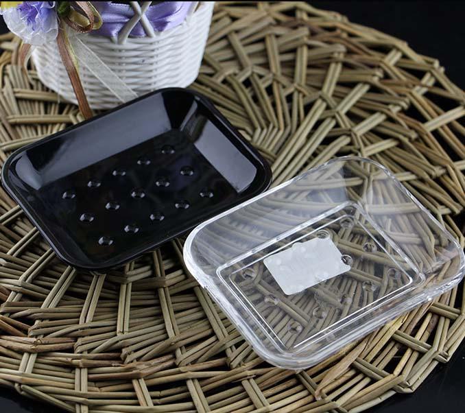 creative transparent/black acrylic hotel acrylic soap dish