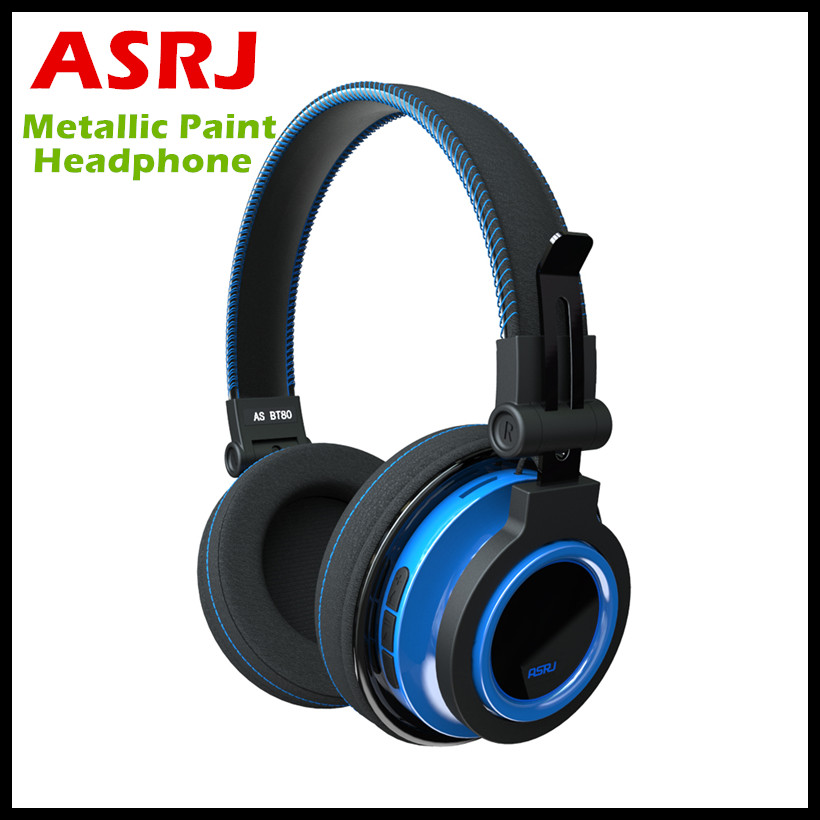 ASRJ AS BT80 Wireless Bluetooth Headphones Stereo HIFI Headsets With Mic Support TF Card 500Mah Big Battery 20H Music Playing wireless headphones bluetooth hifi stereo bass music earphones fm support sd tf card headset with mic for xiaomi iphone x 6 7