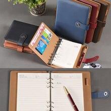 Блокнот-органайзер из искусственной кожи с отрывным листом, деловой планировщик, календарь, журнал для путешествий, винтажный блокнот-планировщик, A5, A6