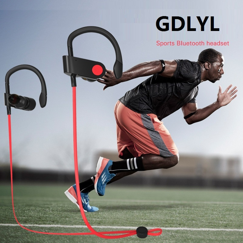 GDLYL Wireless Bluetooth earphone in ear Bluetooth earbuds Sport Running Bluetooth headset with microphone Cordless earphones new guitar shape r9030 bluetooth stereo earphone in ear long standby headset headphone with microphone earbuds for smartphones
