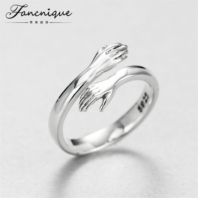 925 Sterling Silver Original Give Me A Hug Design Gug Ring Jewelry For Lover Wedding