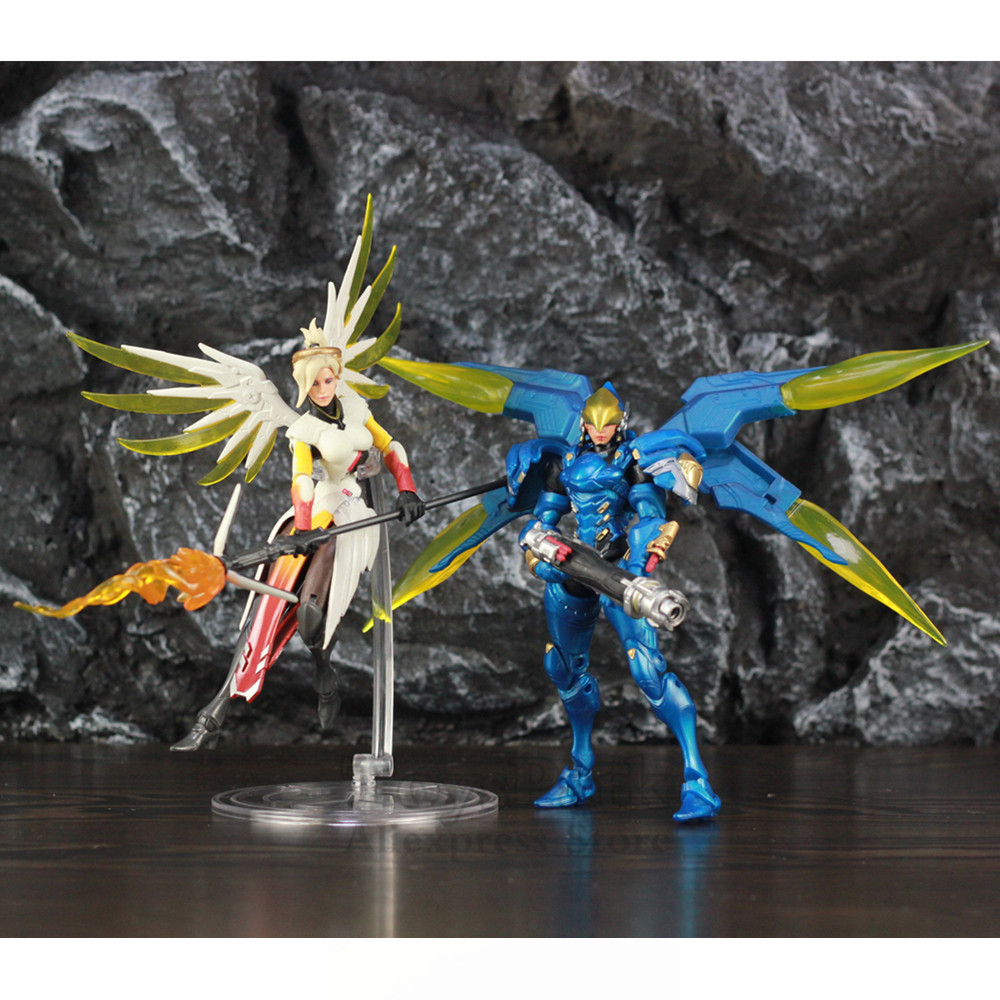 Game OW Ultimates Series Watch Mercy Ange Pharah 2 Pack 6 Scale Action Figure Over Original