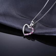 Sterling Silver Pink Sapphire Choker Pendant Jewelry