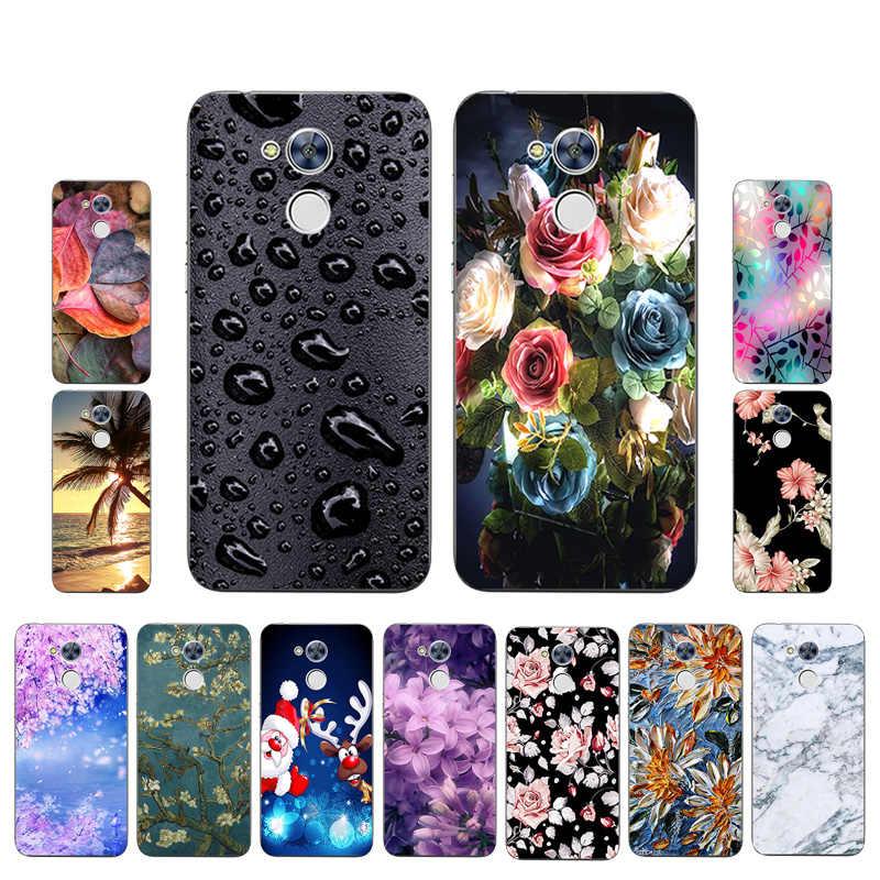 Dla Huawei Honor 8X 7C 7A Pro 6A 7X 6X 5C 9 miękki futerał silikonowy na Huawei Y6 4C pro JSN-AL00 noc malowane pełna ochronna