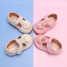 Baby Girl Flower Casual Shoes Toddler Kids Party Anti-slip T-Strap Flat Spring Summer New Enfants Size 15-25