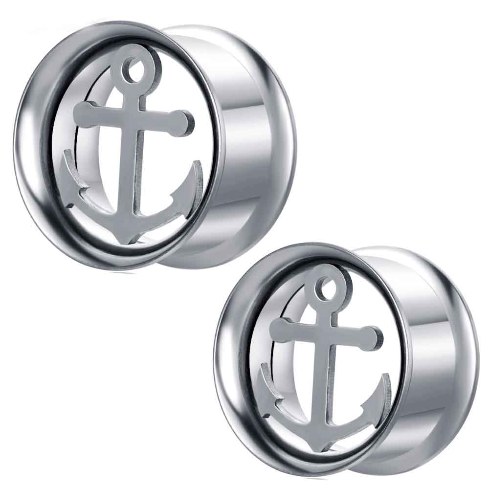 JUNLOWPY Internally Thread Stainless Body Jewelry Flesh Tunnels Ear Plug Gauges Double Flared Earring Expanders Stretchers
