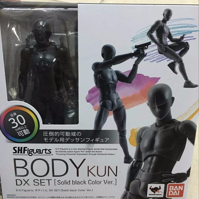 6 Types Body KUN Body Chan SHFiguarts PVC Action Figure DX SET Figma He She Solid Black Pale Orange Gray Ver In Box  (1)