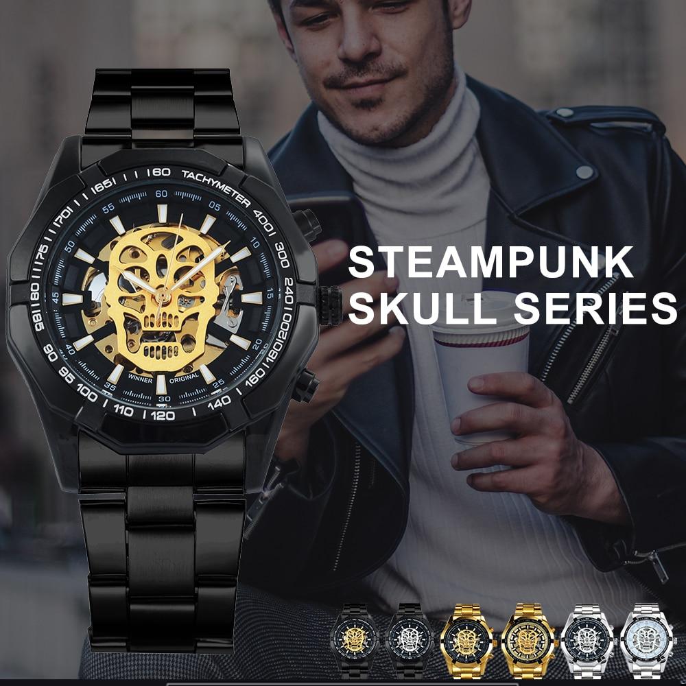 HTB1IDCuapqZBuNjt jqq6ymzpXae WINNER New Fashion Mechanical Watch Men Skull Design Top Brand Luxury Golden Stainless Steel Strap Skeleton Man Auto Wrist Watch