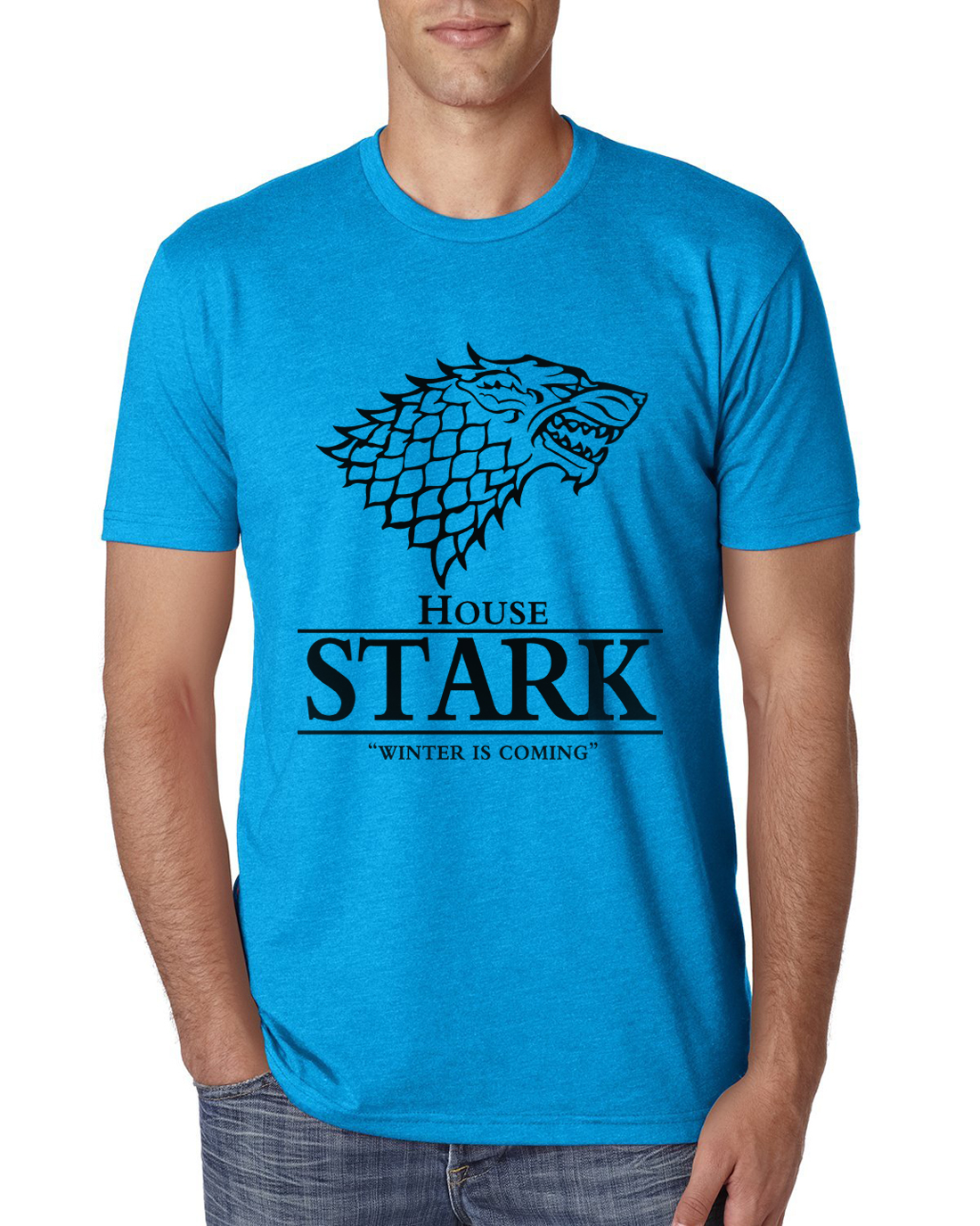 game of thrones house stark t shirt bestseries shop. Black Bedroom Furniture Sets. Home Design Ideas