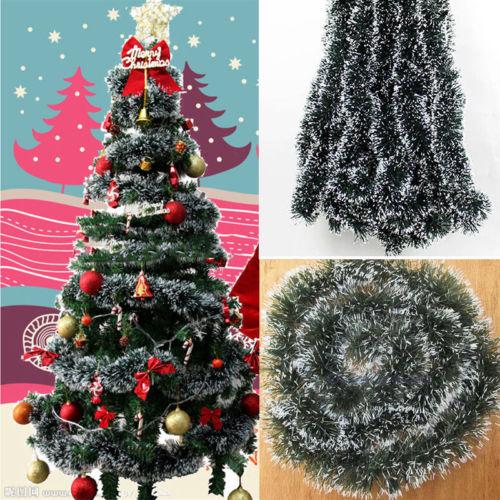 Aliexpress Buy Hot Green Shining 2m Tinsel Garland Christmas