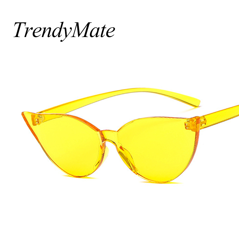 Women's Sunglasses Candy Color One Piece Lens Sunglasses Women Transparent Plastic Glasses Men Sunglasses Clear Brand Designer Oculos De Sol 5322m Carefully Selected Materials