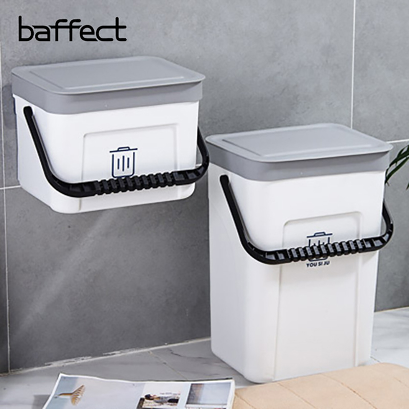 Garbage Box Dust Bin Cabinet Door Hanging Storage Portable Plastic Kitchen Wall Mounted Debris Box Trash