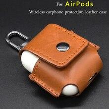 가죽 이어폰 커버 airpods 케이스 무선 이어폰 보호 커버 shockproof 보호 커버 이어폰 액세서리