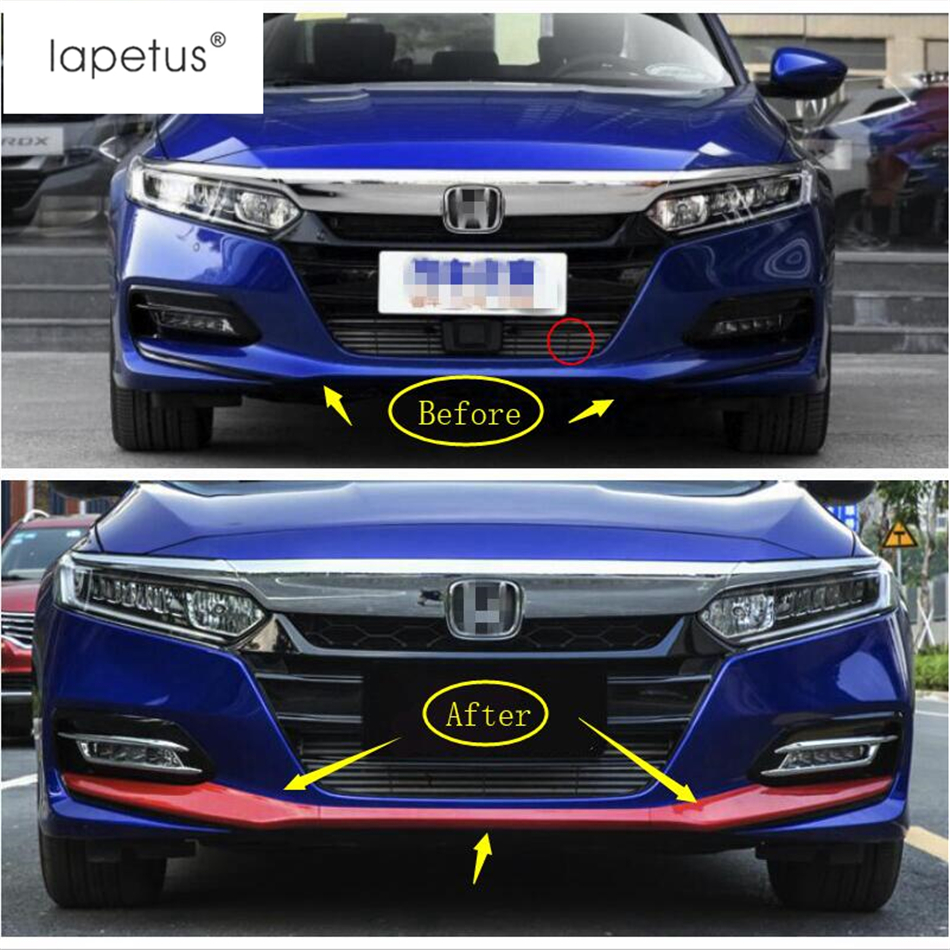 Lapetus Accessories Fit For Honda Accord 2018 2019 Outside Front Fog Head Bottom Bumper Protection Molding Cover Kit Trim 3 Pcs in Chromium Styling from Automobiles Motorcycles