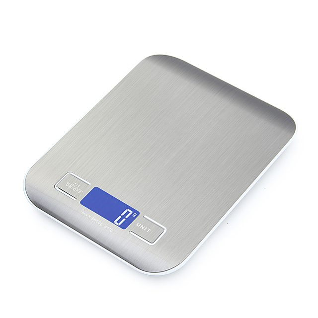 Professional Touch Digital Kitchen Scale / LCD Display & Stainless Steel
