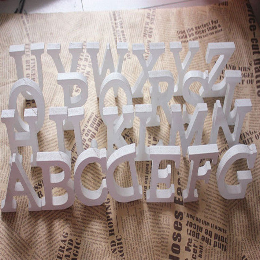 White Wooden Letters Alphabet Word Wall