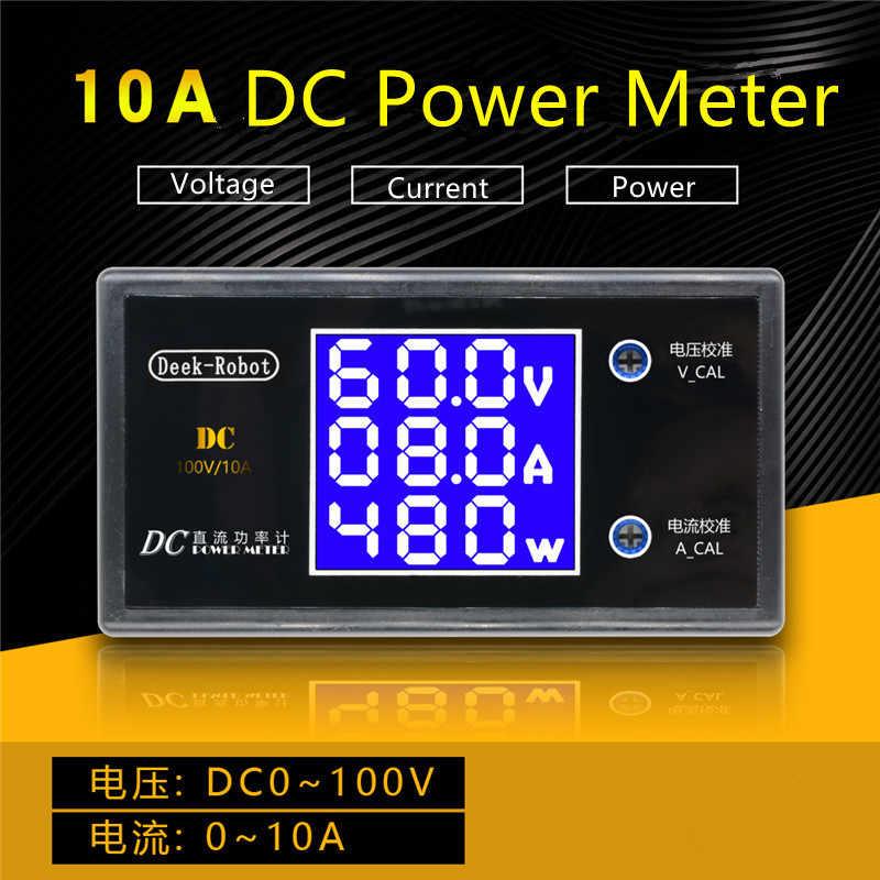DC 200V 100V 10A แรงดันไฟฟ้า LCD Current Meter Tester ปรับแอมป์มิเตอร์โวลต์มิเตอร์โวลต์ AMP Detector จอแสดงผล LED