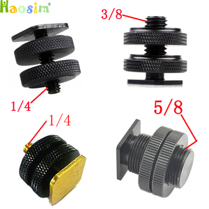 """Image 1 - 1/4""""  3/8""""  5/8""""inch Tripod Mount Screw with Double Layer to Flash Hot Shoe Adapter Holder Mount Photo Studio Accessories"""