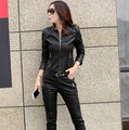 Leather jacket women fashion coat women short motorcycle leather clothing female outerwear Chaqueta de cuero de las mujeres Z930