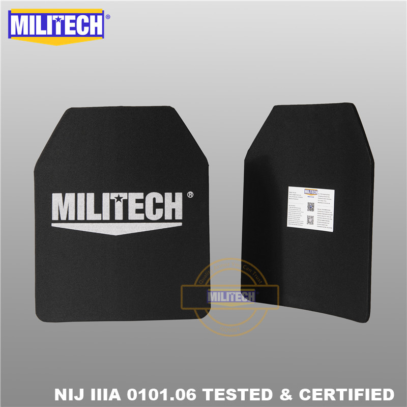 MILITECH 10 x 12 inches Two PCs Pair Ultra Light Weight UHMWPE NIJ IIIA 3A Tested
