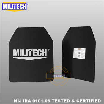MILITECH 10 x 12 inches Two PCs Pair Ultra Light Weight UHMWPE NIJ IIIA 3A Tested Ballistic PE Plate Bulletproof Backpack Panel - DISCOUNT ITEM  0% OFF All Category