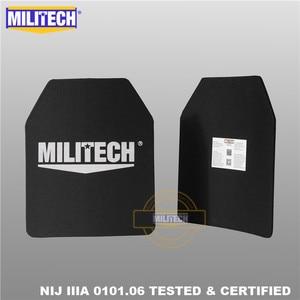 "Image 2 - MILITECH Ballistic Plate 10"" x 12"" Pair NIJ IIIA 3A 0101.06&NIJ 0101.07 HG2 Ultra Light Weight UHMWPE Bulletproof Backpack Panel"