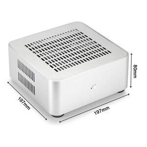 Image 3 - [[Nắp Trên Có Lỗ]] Mới L80S Máy Tính Trường Hợp Ốp Nhôm Để Bàn Máy Tính Lớn Dành Cho Game Khung Xe DIY MINI ITX ốp Lưng