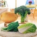 Simulação Batata Brócolis Vegetal Almofada Travesseiro brinquedos de Pelúcia Criativo Cochilo Travesseiro para presentes de Natal 50 cm