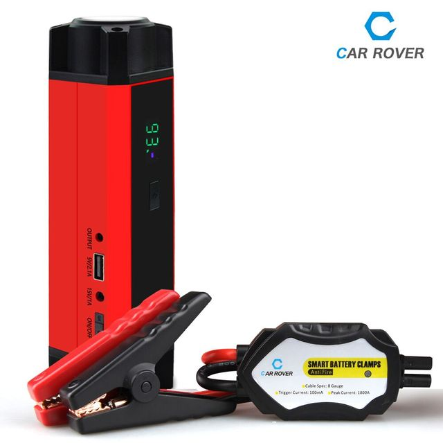12V Portable Mini Jump Starter Real 14800mAh Car Jumper Booster Power Bank for Petrol and Diesel with 1000A Peak Current