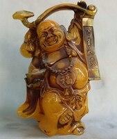 10 Китайский Буддизм храм искусственный янтарь пчелиный воск Будды Майтреи Ruyi статуя