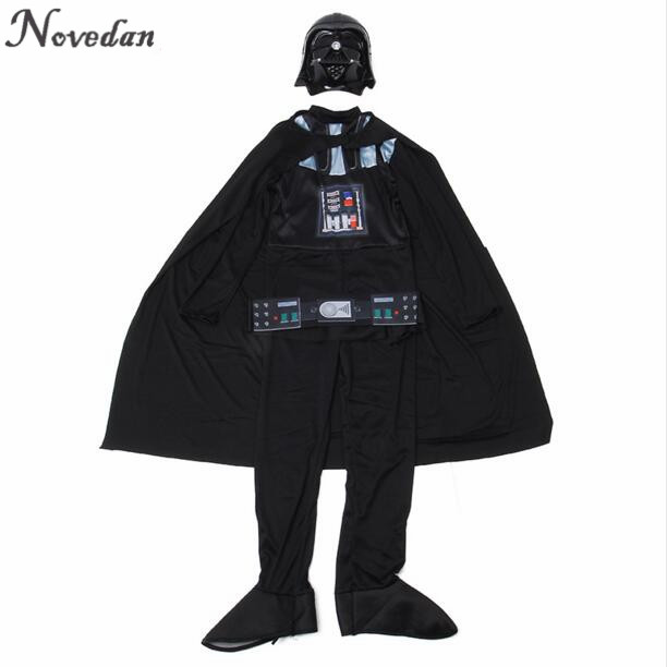 Image 3 - Halloween Costume For Kids Men Darth Vader (Anakin Skywalker) Children Cosplay Party Costume Clothing With Helmet Mask    -