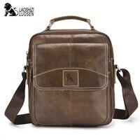 Genuine Leather Men Crossbody Bag small Casual Business Leather Messenger Bag Vintage Men Bag Solid Zipper Shoulder Handbags