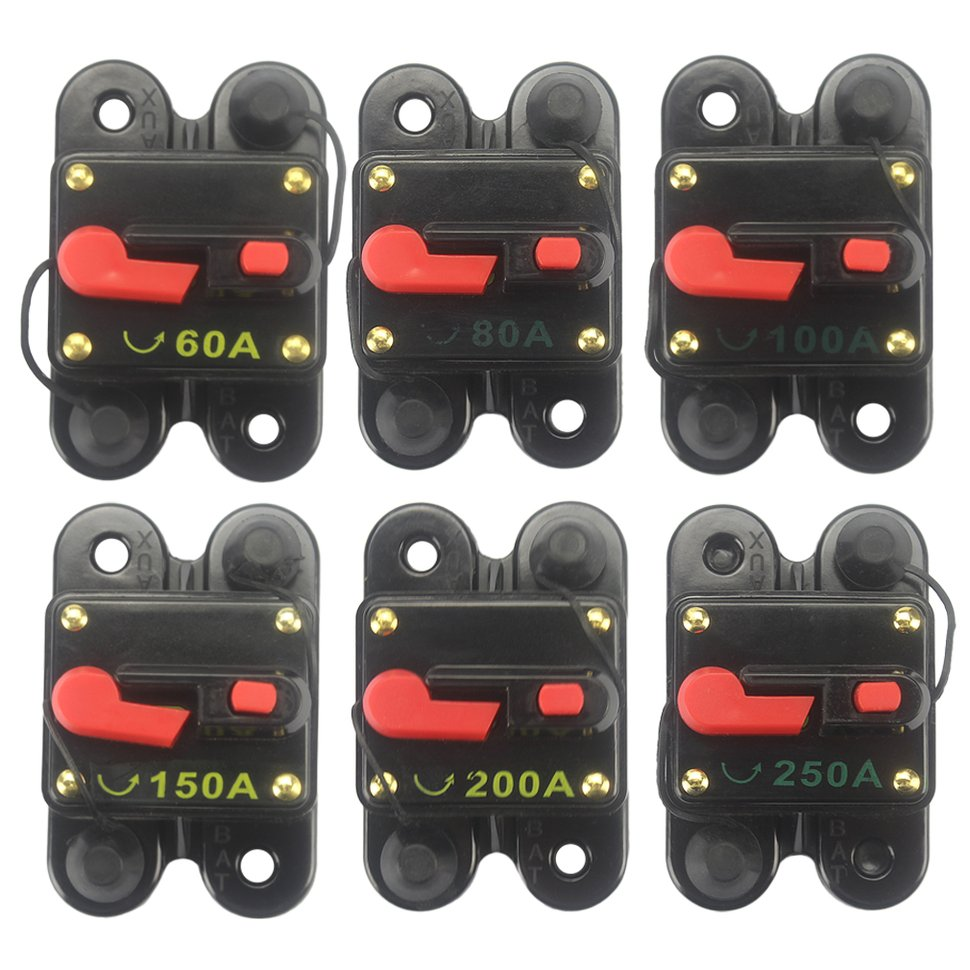 X Autohaux 2 Pcs Motorcycle Car Audio 60a 38mm 10mm Agu Glass Tube Protector Circuit 2pcs Fuse Holder With Switch Power Supply Breaker