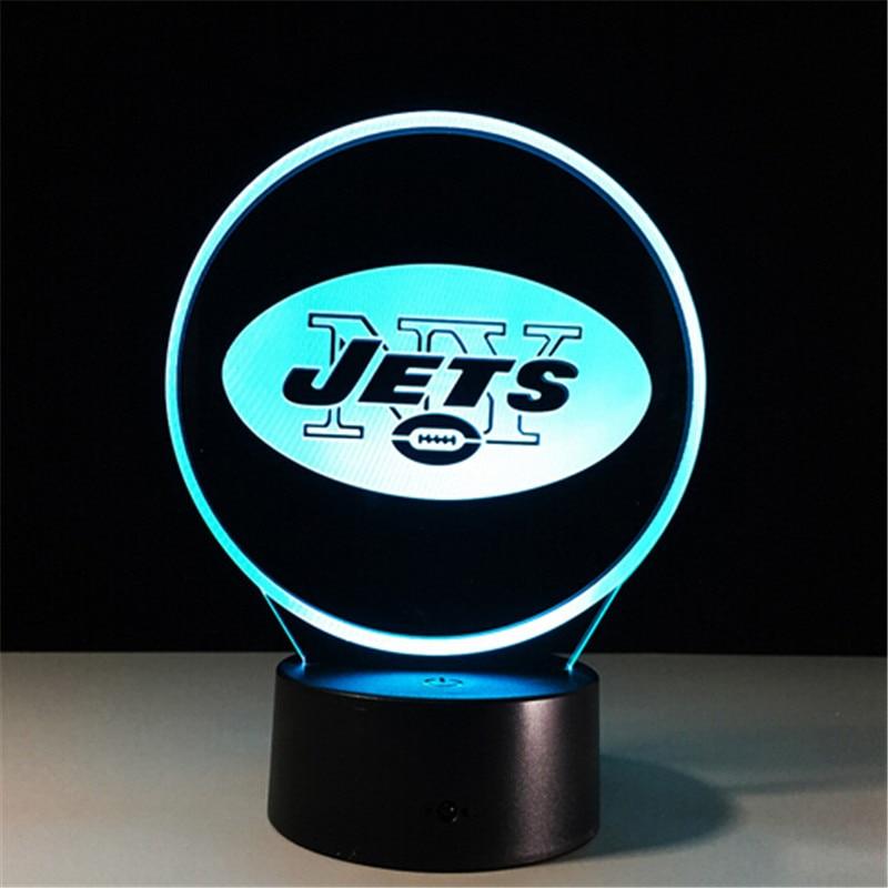 3d led bureaulamp voetbal sport 3d illusion nachtlampje led touch